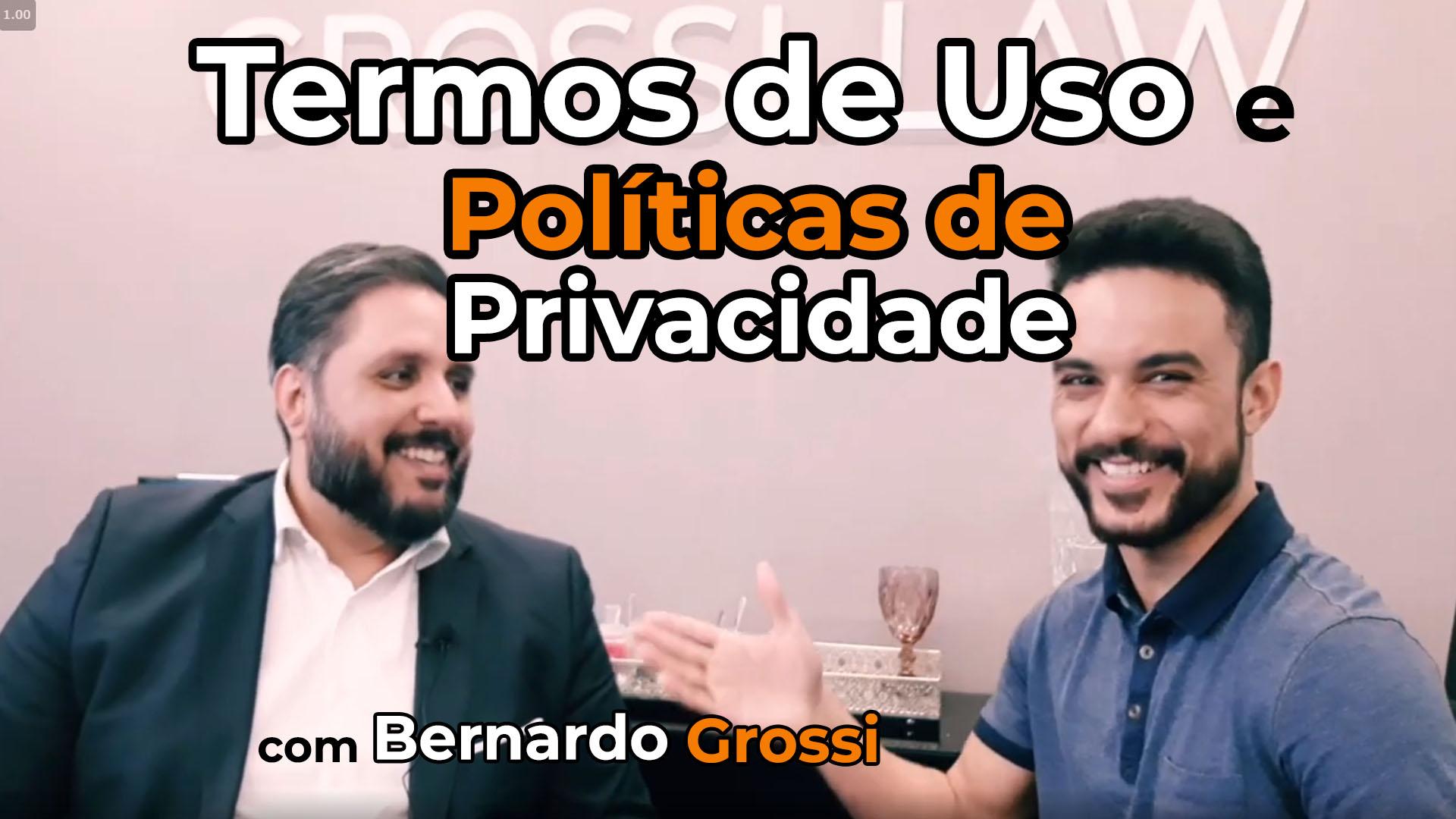 Jansser Dias Bernardo Grossi termos de uso e políticas de privacidade
