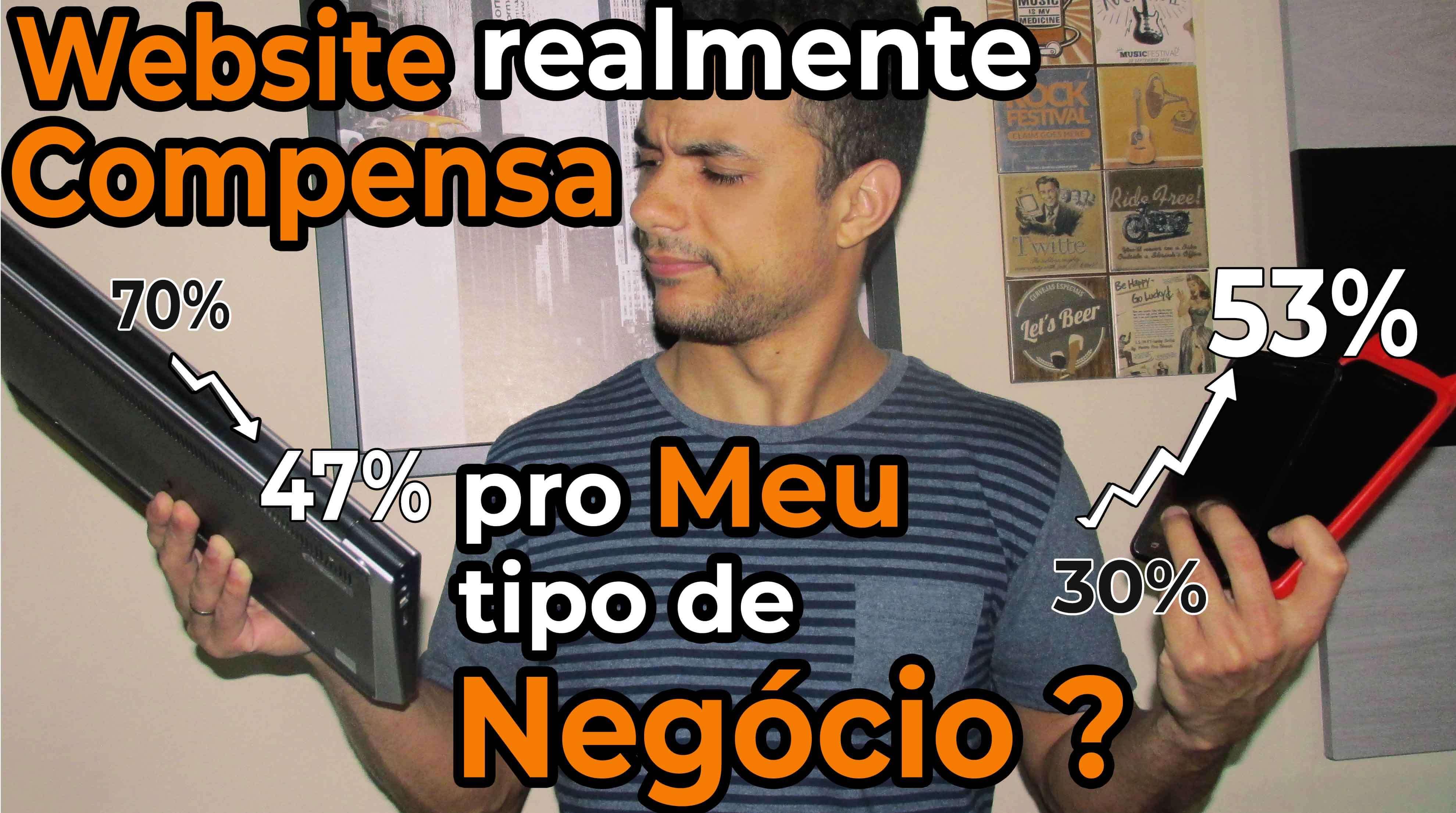 Jansser Dias Website compensa para o meu negócio